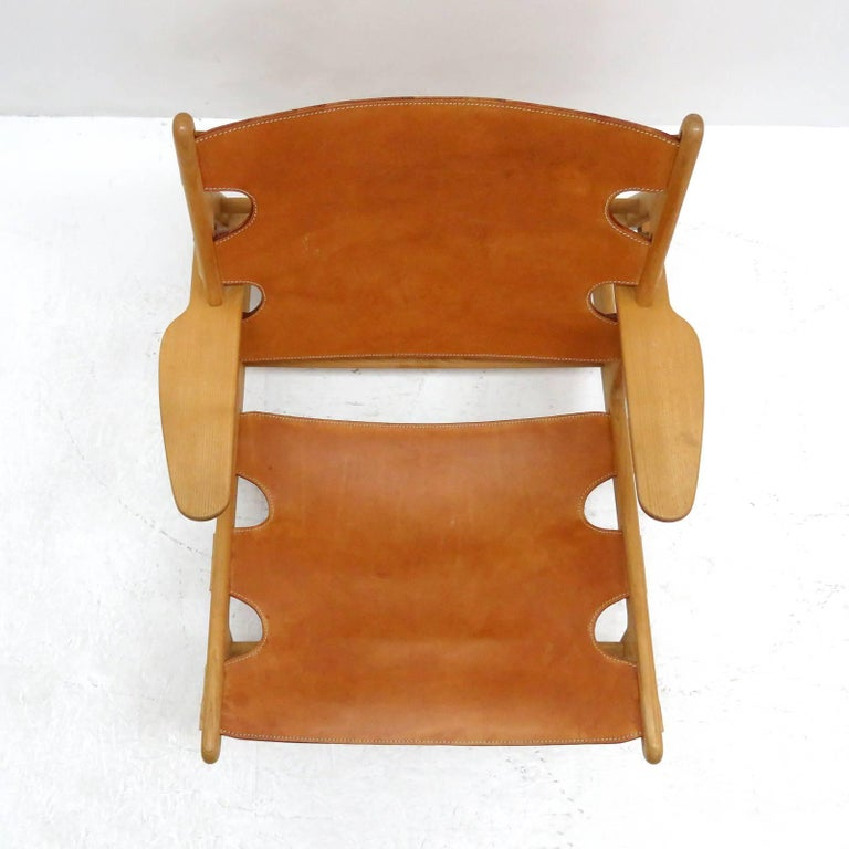 Leather Børge Mogensen 'Hunting' Chair, Model 2229 For Sale