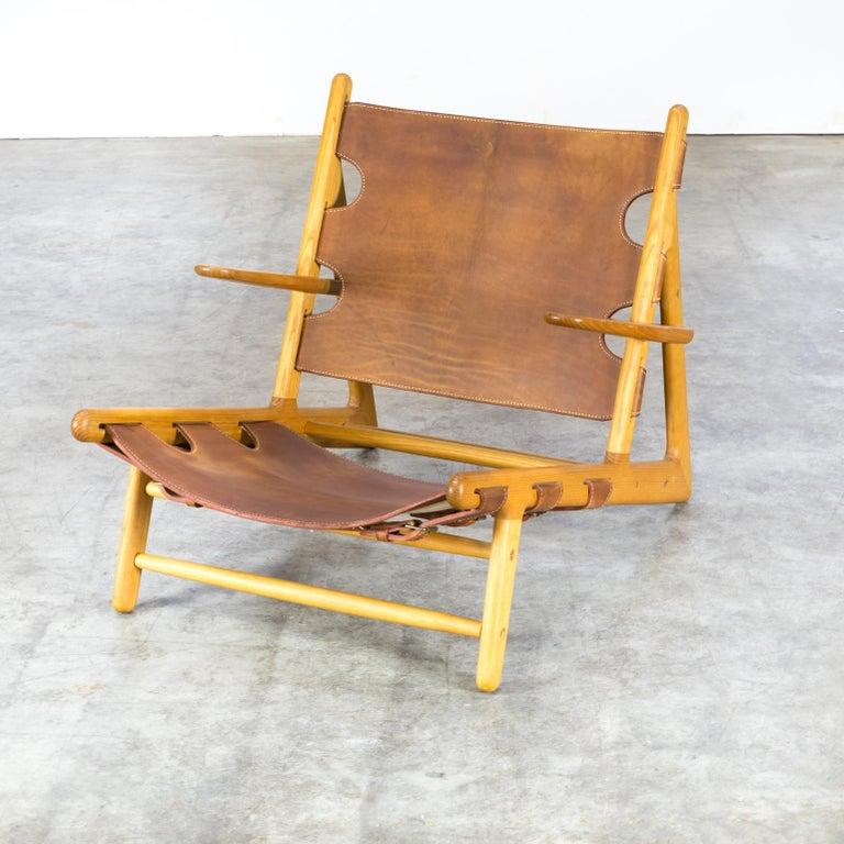 Leather Børge Mogensen 'Hunting' Chair, Model 2229 for Fredericia Stolefabrik For Sale