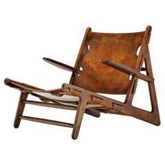 Børge Mogensen Hunting Chair Model '2229' in Patinated Leather