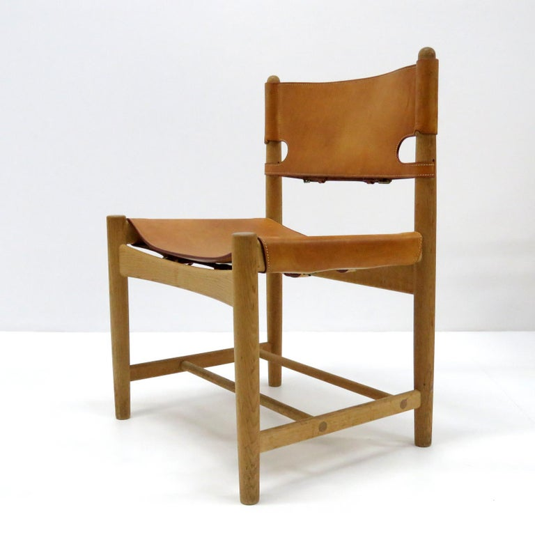 Scandinavian Modern Børge Mogensen 'Hunting' Chairs, Model 3237 For Sale