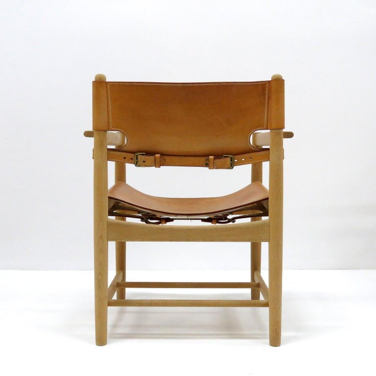 Leather Børge Mogensen 'Hunting' Chairs, Model 3238 For Sale