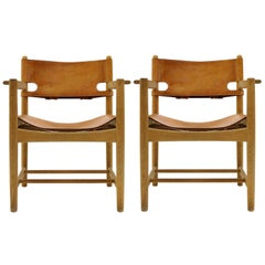 Børge Mogensen 'Hunting' Chairs, Model 3238