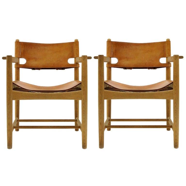 Børge Mogensen 'Hunting' Chairs, Model 3238 For Sale