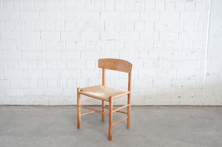 Børge Mogensen J39 Vintage Dining Oak Chair for FDB Mobler Set of 4 10