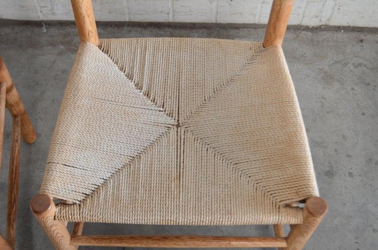 Børge Mogensen J39 Vintage Dining Oak Chair for FDB Mobler Set of 4 12