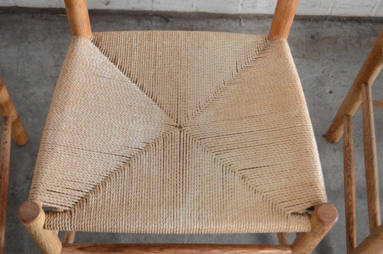 Børge Mogensen J39 Vintage Dining Oak Chair for FDB Mobler Set of 4 13