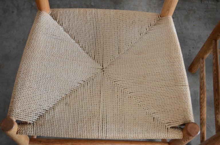 Børge Mogensen J39 Vintage Dining Oak Chair for FDB Mobler Set of 4 15