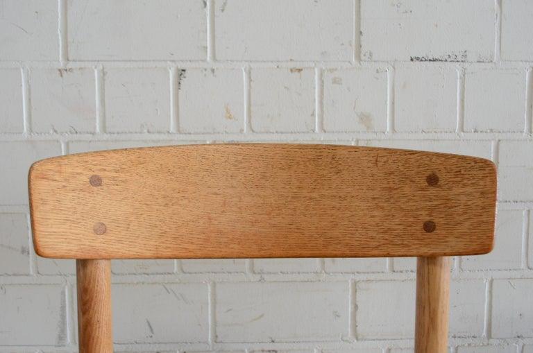 Børge Mogensen J39 Vintage Dining Oak Chair for FDB Mobler Set of 4 17