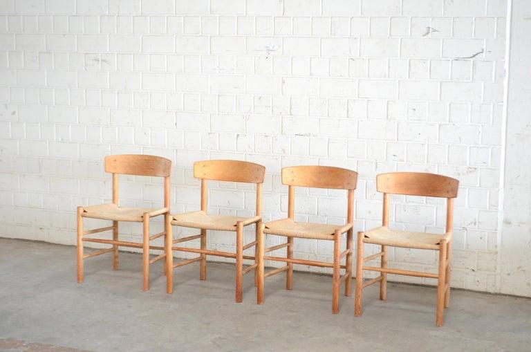 Børge Mogensen J39 Vintage Dining Oak Chair for FDB Mobler Set of 4 2