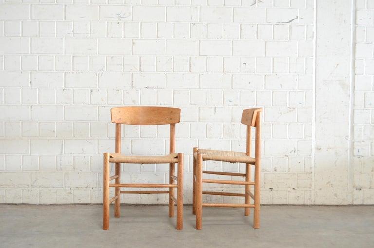 Børge Mogensen J39 Vintage Dining Oak Chair for FDB Mobler Set of 4 3