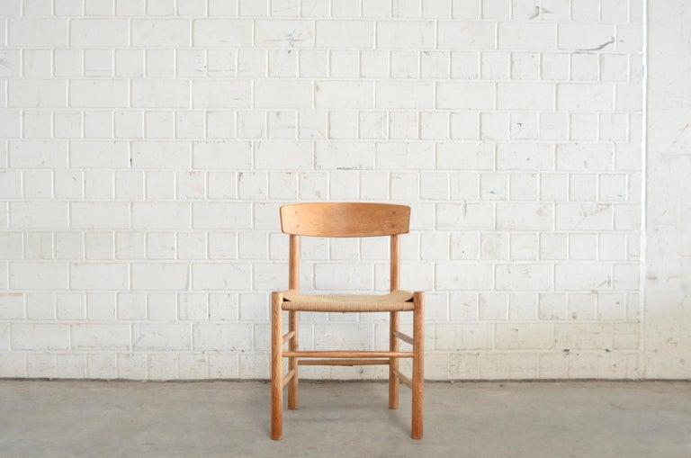 Børge Mogensen J39 Vintage Dining Oak Chair for FDB Mobler Set of 4 4