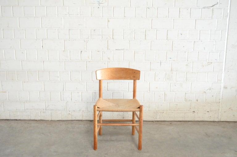 Børge Mogensen J39 Vintage Dining Oak Chair for FDB Mobler Set of 4 5