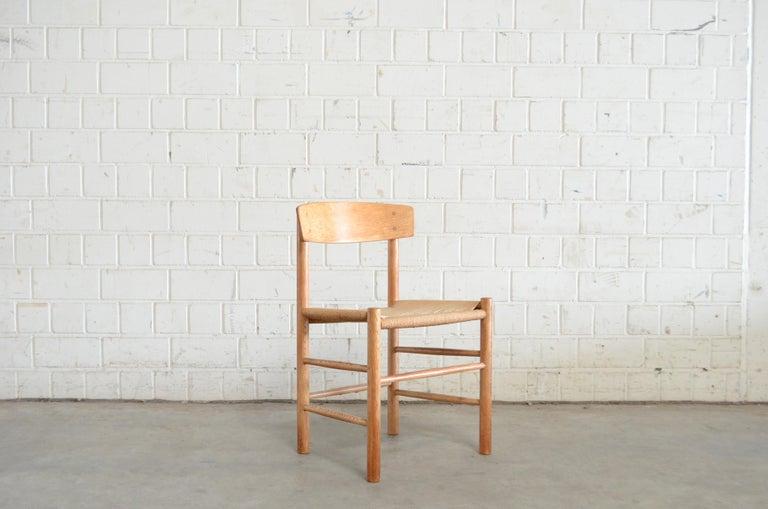 Børge Mogensen J39 Vintage Dining Oak Chair for FDB Mobler Set of 4 6