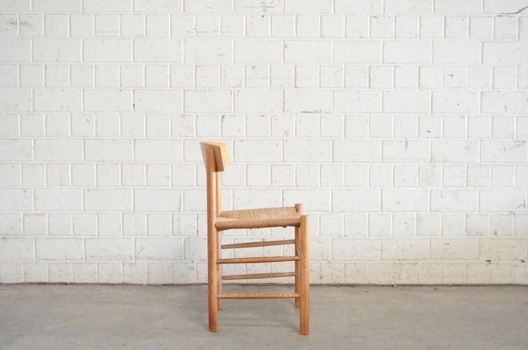 Børge Mogensen J39 Vintage Dining Oak Chair for FDB Mobler Set of 4 7