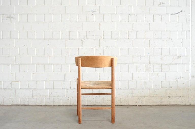 Børge Mogensen J39 Vintage Dining Oak Chair for FDB Mobler Set of 4 8