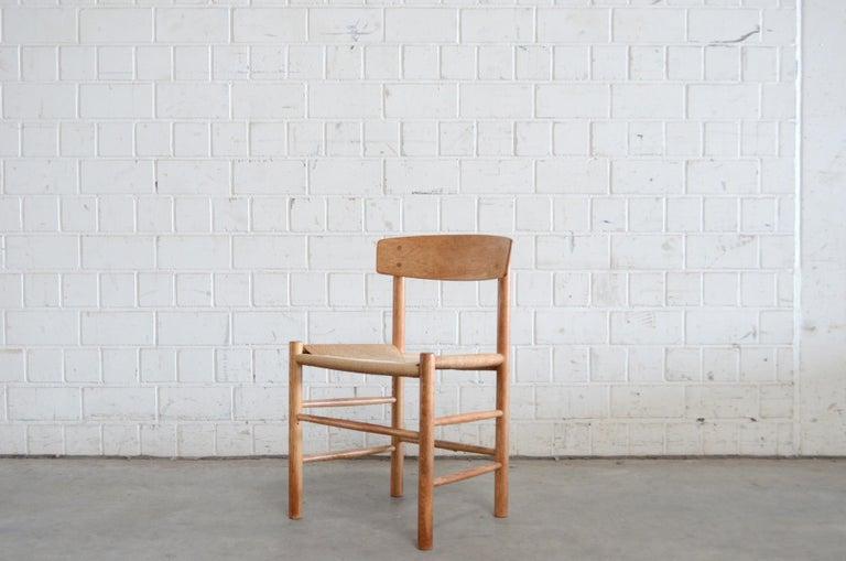 Børge Mogensen J39 Vintage Dining Oak Chair for FDB Mobler Set of 4 9