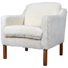 Børge Mogensen Lounge Chair, Model 2321, Sheepwool