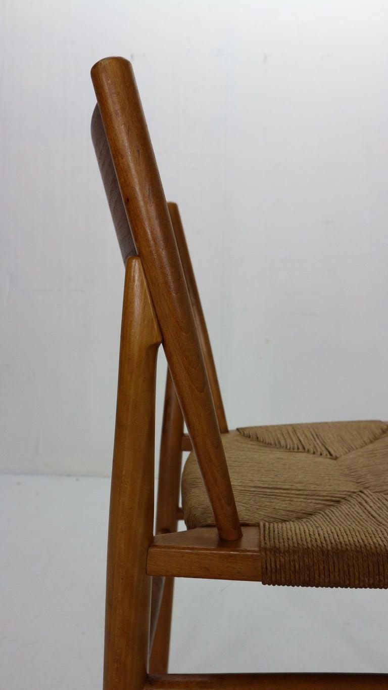 Børge Mogensen 'Model 157' Set of 6 Dinning Room Chairs for Søborg Møbler, 1950 For Sale 2