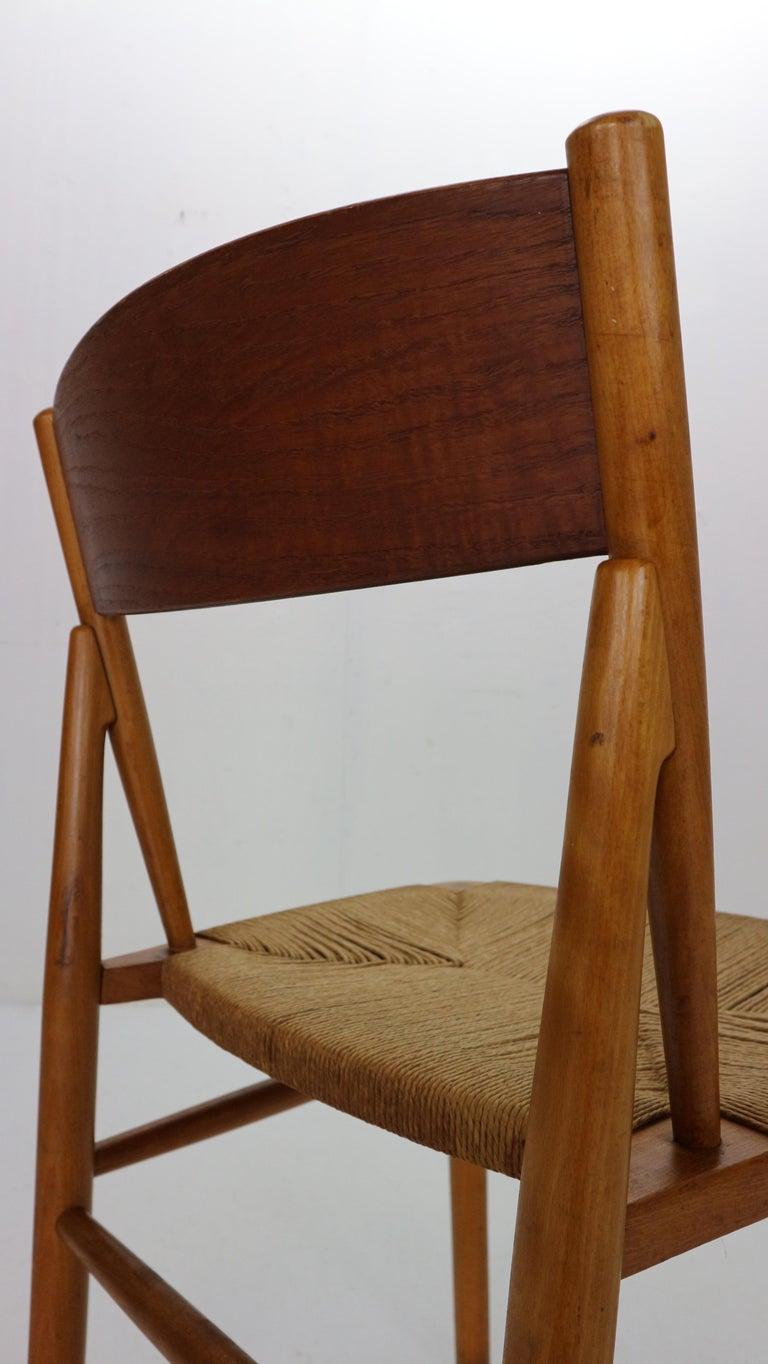 Børge Mogensen 'Model 157' Set of 6 Dinning Room Chairs for Søborg Møbler, 1950 For Sale 3