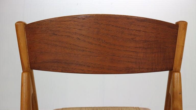Børge Mogensen 'Model 157' Set of 6 Dinning Room Chairs for Søborg Møbler, 1950 For Sale 4