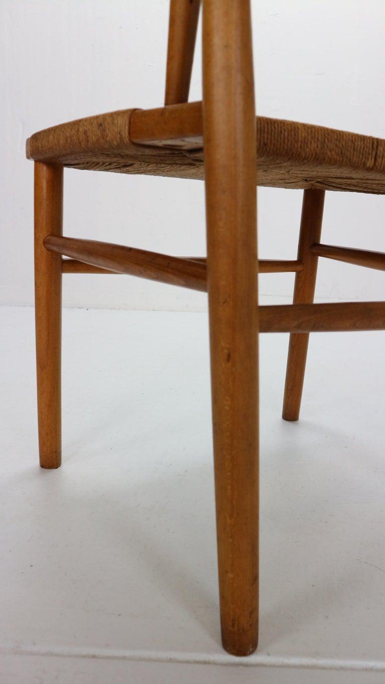 Børge Mogensen 'Model 157' Set of 6 Dinning Room Chairs for Søborg Møbler, 1950 For Sale 9