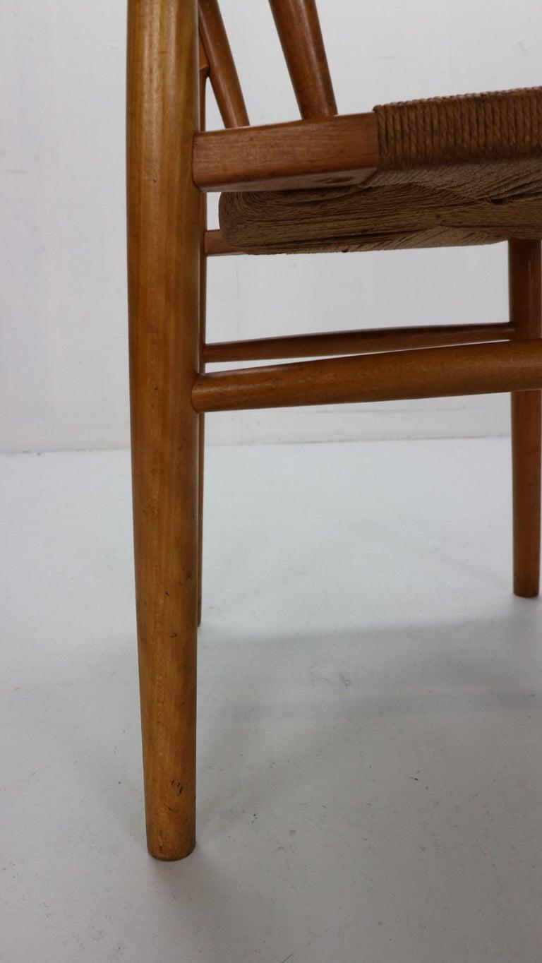 Børge Mogensen 'Model 157' Set of 6 Dinning Room Chairs for Søborg Møbler, 1950 For Sale 10