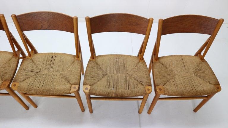 Børge Mogensen 'Model 157' Set of 6 Dinning Room Chairs for Søborg Møbler, 1950 For Sale 1
