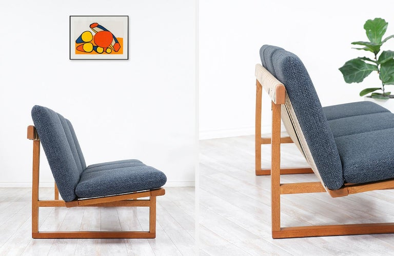 Børge Mogensen Model 211 Oak Wood Sofa for Fredericia Stolefabrik For Sale 3
