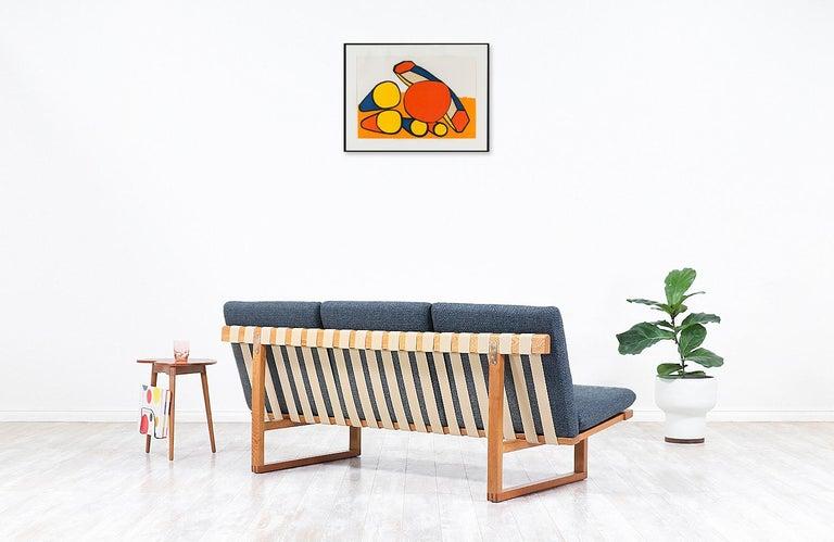 Danish Børge Mogensen Model 211 Oak Wood Sofa for Fredericia Stolefabrik For Sale