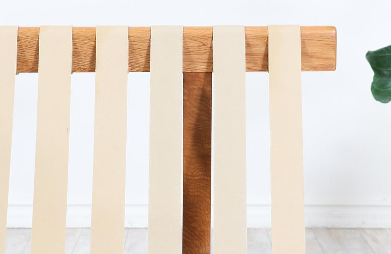 Fabric Børge Mogensen Model 211 Oak Wood Sofa for Fredericia Stolefabrik For Sale