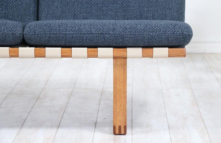 Børge Mogensen Model 211 Oak Wood Sofa for Fredericia Stolefabrik For Sale 1