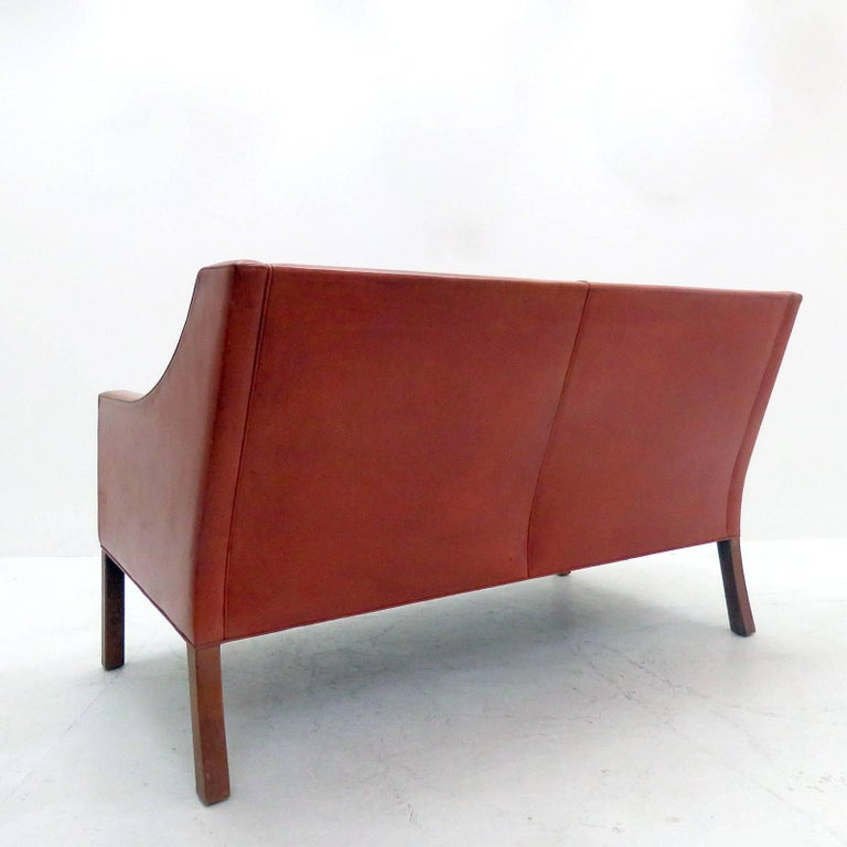 Late 20th Century Børge Mogensen Model #2208 Two-Seat Sofa For Sale
