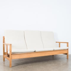 Børge Mogensen Model 2253 Oak Three Seat Sofa