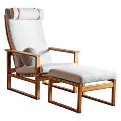 Børge Mogensen Model 2254 Lounge Chair with Ottoman, 1950s