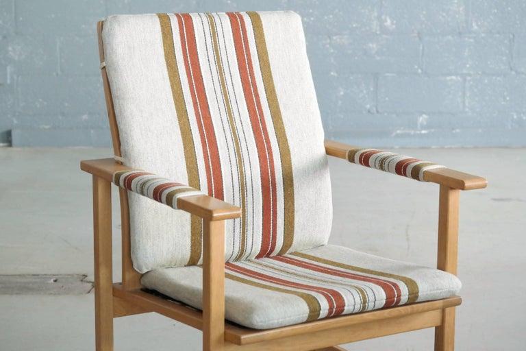 Scandinavian Modern Børge Mogensen Model 2257 1960s Oak Lounge Chair for Fredericia Stolefabrik