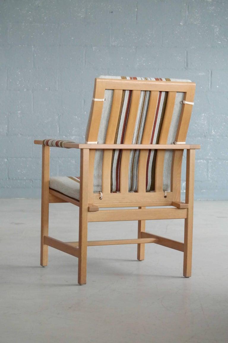 Børge Mogensen Model 2257 1960s Oak Lounge Chair for Fredericia Stolefabrik In Excellent Condition In Bridgeport, CT