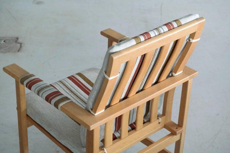 Mid-20th Century Børge Mogensen Model 2257 1960s Oak Lounge Chair for Fredericia Stolefabrik