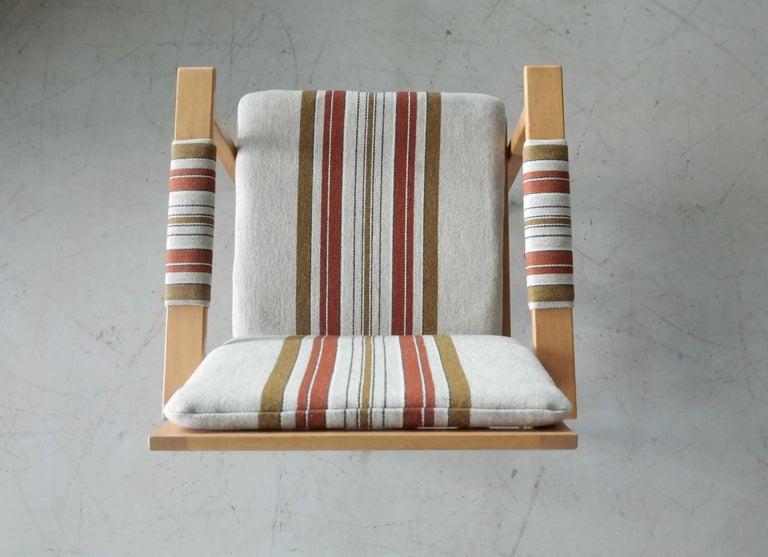 Wool Børge Mogensen Model 2257 1960s Oak Lounge Chair for Fredericia Stolefabrik