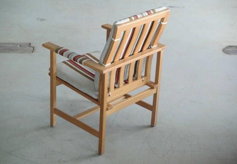 Børge Mogensen Model 2257 1960s Oak Lounge Chair for Fredericia Stolefabrik 1