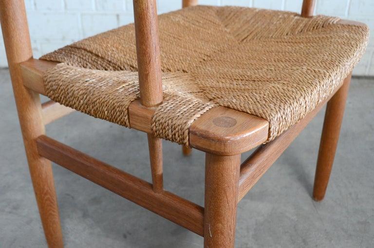 Børge Mogensen Model 537 Oresund Dining Oak Chairs for Karl Andersson Set of 4 12