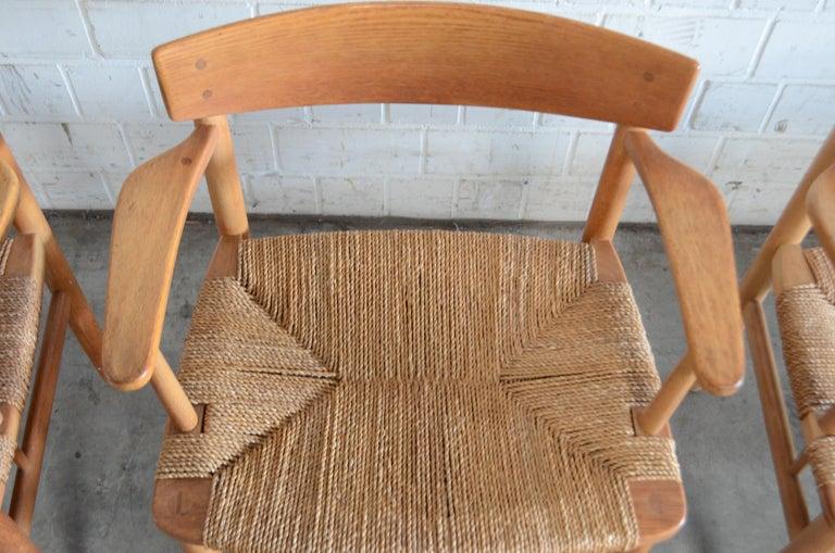 Børge Mogensen Model 537 Oresund Dining Oak Chairs for Karl Andersson Set of 4 16