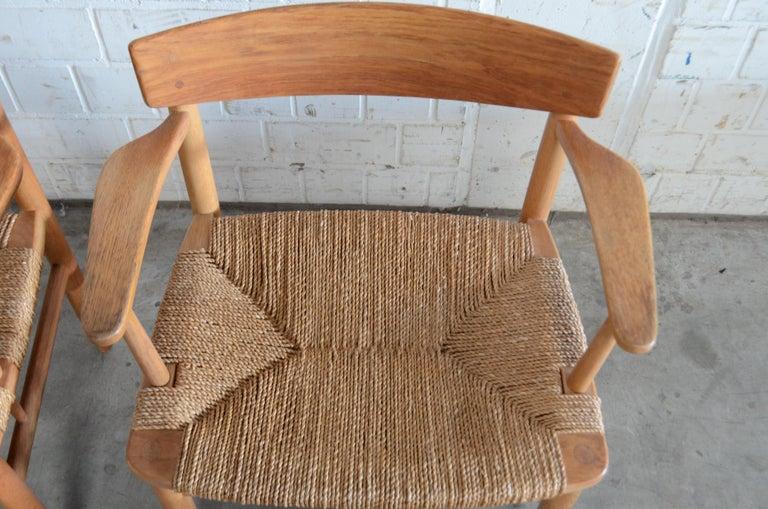 Børge Mogensen Model 537 Oresund Dining Oak Chairs for Karl Andersson Set of 4 18