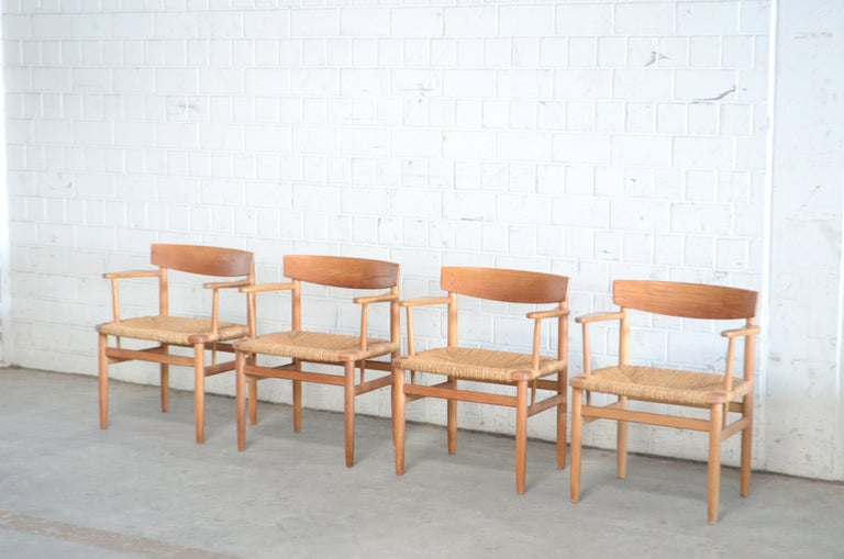 Børge Mogensen Model 537 Oresund Dining Oak Chairs for Karl Andersson Set of 4 2
