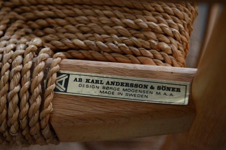Børge Mogensen Model 537 Oresund Dining Oak Chairs for Karl Andersson Set of 4 20