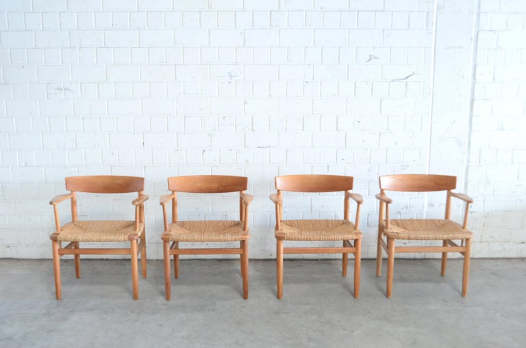 Børge Mogensen Model 537 Oresund Dining Oak Chairs for Karl Andersson Set of 4 3