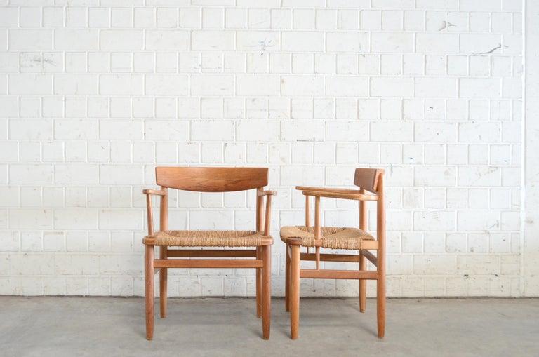 Børge Mogensen Model 537 Oresund Dining Oak Chairs for Karl Andersson Set of 4 4