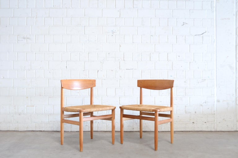 Børge Mogensen Model 537 Oresund Pair of Dining Oak Chairs for Karl Andersson 15