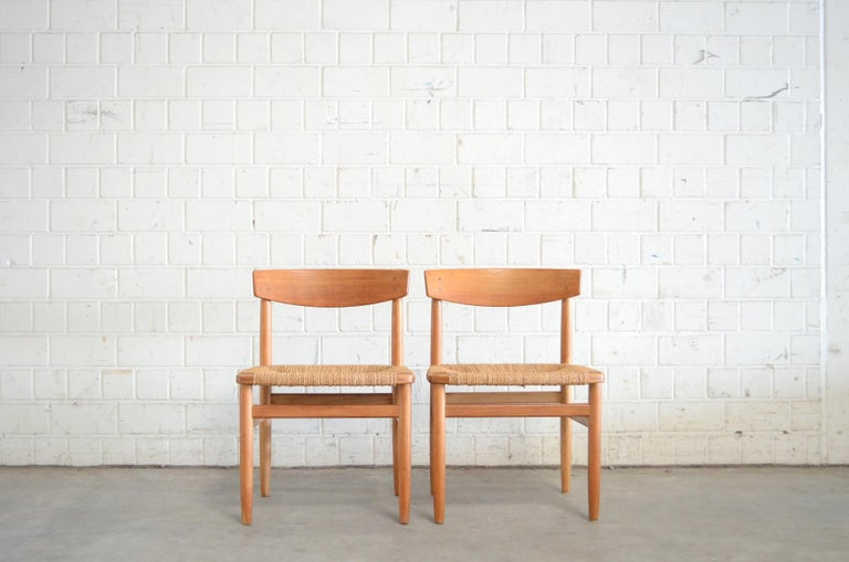 Børge Mogensen Model 537 Oresund Pair of Dining Oak Chairs for Karl Andersson 2