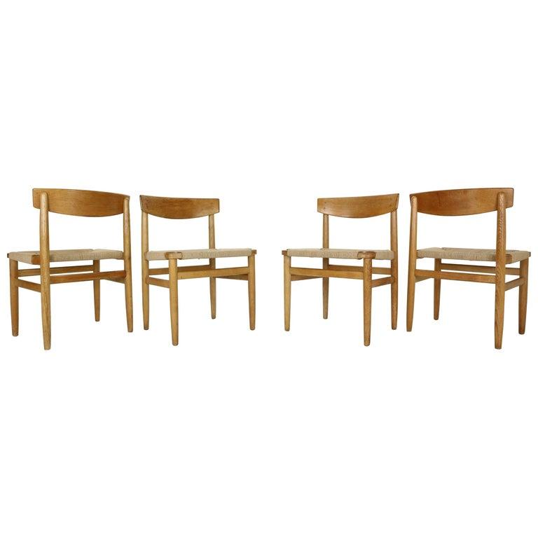 """Børge Mogensen """"Model-537 Øresund"""" Set of 4 Dining Oak Chairs for Karl Andersson For Sale"""