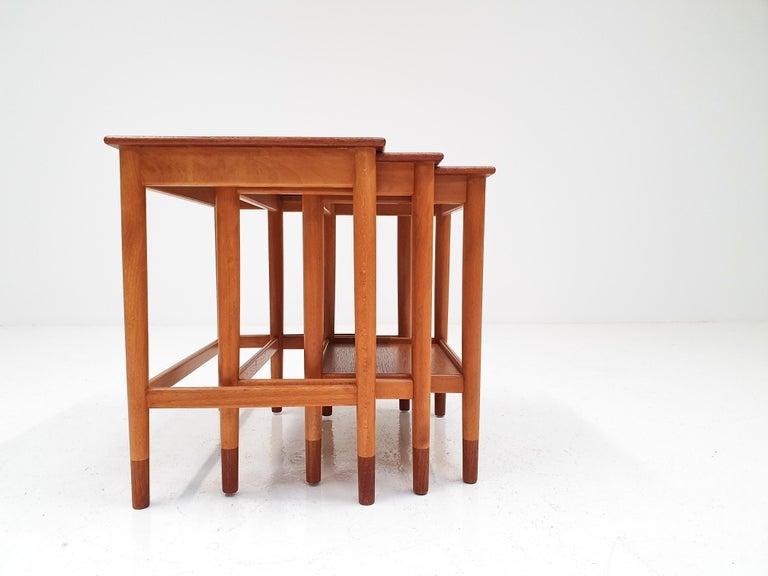Børge Mogensen Nest of Tables for Søborg Møbelfabrik, Denmark, 1960s For Sale 1